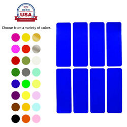 Rectangle Colored Coding Stickers 1 X 3 Inch Writable Labels In 15 Colors