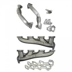 06-07 Gm 6.6l Lbz Duramax Ppe High-flow Exhaust Manifolds With Up-pipes.