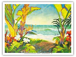 Time To Chill Hawaii Paradise - Robin Wethe Altman Watercolor Painting Print