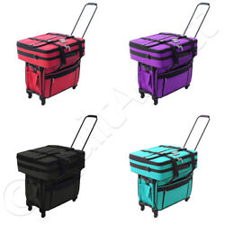 Tutto Tote on Wheels 2X 28quot; 28quot; Embroidery Bag Case Choose from 4 Colors $358.99