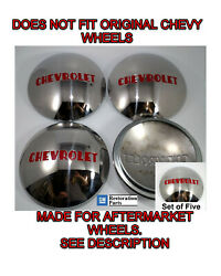Set/5 1947-1953 Chevrolet 1/2t Truck Stainless Hubcap Fits Ford Wheel 1940-56