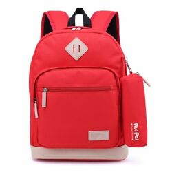 Kids Waterproof Backpack for Elementary or Middle School Boys and Girls Dark Red