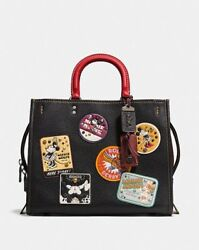 NWT Disney X Coach 1941 Rogue Minnie Mouse Patches black limited edition shoulde