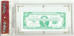 Clear Banknote Protector Capital Holder Large Us Size Currency 1 Slab Display