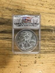 2015 (P) ANACS MS69 Silver Eagle 1 Of 79640 Great Collectors Piece!!!!