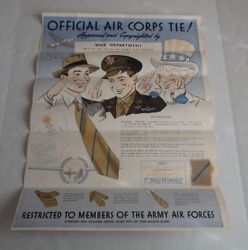 Original Wwii Official Us Army Air Corps Necktie Poster