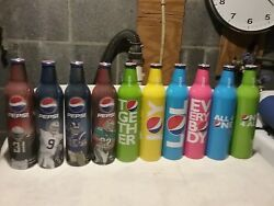 Collectible 30 Count 2008 Aluminum Mountain Dew And Pepsi Bottles Never Opened