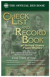 Whitman Checklist And Record Book Us Paper Money Currency Collector Tool + Errors