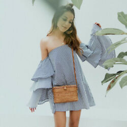 The natural Ata grass bag  a must have for every boho girl this summer