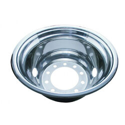 Rear Wheel Cover, 22 12 O.d., Stainless Steel, Hub Piloted - 2 Vent Hole