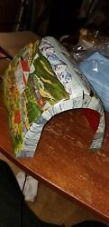 Vintage 1950s Marx Toys Metal Litho O Scale Scenery Model Train Layout Tunnel