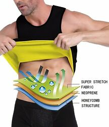 Mens Gym Tank Top Vest Sauna Sweat Slimming Shaper Weight Loss Workout Outfit