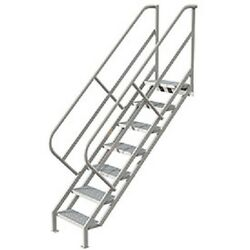 New 7 Step Industrial Access Stairway Ladder Perforated