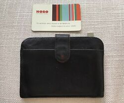 Hobo International Wallet Classic Black Leather ID and Key Holder Retired $55.00