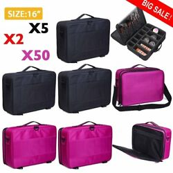 BEST Professional Makeup Case Travel Bag Artist Cosmetic Train Organizer Big LOT