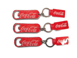 Coca-cola Key-chain Bottle Opener Hiking Picnics Tailgate Cookout Bbq Set Of 3
