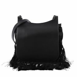 The Row Hunting Crossbody Bag Leather with Fringe 11
