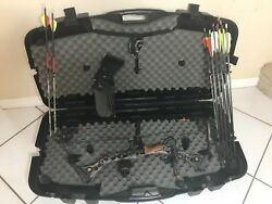 MATHEWS SWITCHBACK SOLOCAM COMPOUND BOW + CASE + ARROWS + ACCESSORIES