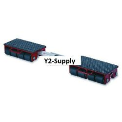 New Machinery Roller Dolly Rigid Plates-adjustable Connector Bar 26400 Lb Cap