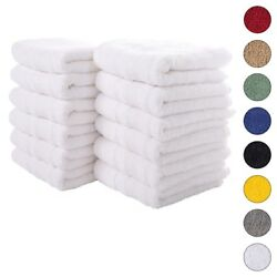 New White Color Ultra Super Soft Luxury Pure Turkish 100 Cotton Hand Towels