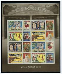 Usps 2014 Mint/nh Scott 4898-4905 New Vintage Circus Posters Barnum And Bailey
