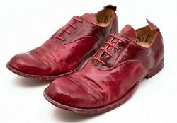 New Paul Harnden Shoemakers Red Leather Oxford Shoes 3uk 4l Uk