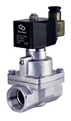 1 Inch High Pressure Electric Steam Solenoid Process Valve Stainless Nc 24v Dc
