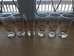 Lot Of 6 Vintage 1950's Fort Pitt Special Beer Tavern Glass Rare Set Of 6