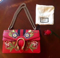 GUCCI DIONYSUS EMBROIDERY SMALL SHOULDER BAG