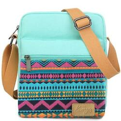 Small Crossbody Bag Purse Canvas Messenger Travel Shoulder for Girls and Women