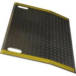 New B And P Aluminum Dock Plate E3636-hs 36x36 2500 Lb. Cap With Hand Slots