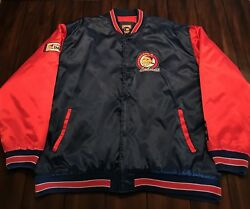 Rare Vintage Cooperstown Mlb Cleveland Indians 1948 Chief Wahoo Logo Jacket