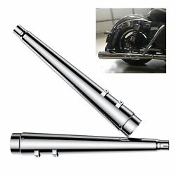 Sharkroad 4.4 Slip Ons Megaphone For Harley Exhaust 95-16 Touring Street Glide
