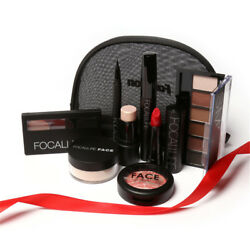 Makup Tool Kit 8 PCS Must Have Cosmetics Makeup Bag Makeup Set Gift Personal Use