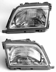 Headlight Set Left Right SL R129 W129 Mercedes-Benz with Pneumatic LWR
