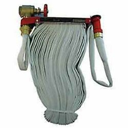 New Moon American-fire Hose Pin Rack Unit-50 Ft Hose-brass Nozzle-steel-red