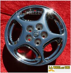 Set Of 4 New Chrome 16 Wheels For Nissan 300zx 2+2 Altima Maxima 62501