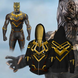 New! Marvel Movie Black Panther 2018 Wakanda 3D printing Pullover Hoodie Sweater