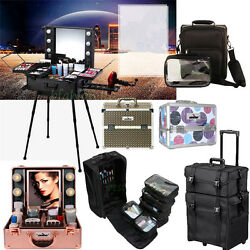 UNHO Pro Rolling Travel Studio  Trolley  Bag Makeup Artist Cosmetic Organizer