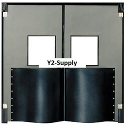 NEW! Chase Doors Extra HD Double Panel Traffic Door 8'W x 8'H Metallic Gray!!