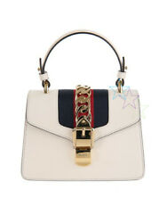 PRE-OWN GUCCI SYLVIE LEATHER MINI BAG COLOR WITHE