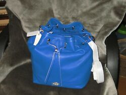 NWT Coach Leather Turnlock Tie Bucket ShoulderCrossbody Bag