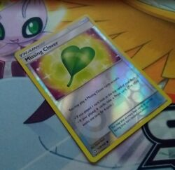 1x Missing Clover - Sun And Moon Ultra Prism 129/156 Reverse Holo Uncommon Nm
