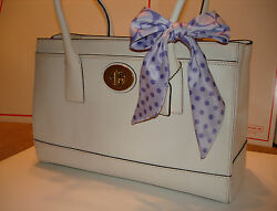 Coach ✦ White Madeline Tote Bag ✦ Turnlock Expandable Satchel Purse ✦ Authentic
