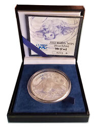 South Africa Wildlife Silver Proof 50 Cent. The African Buffalo 2001