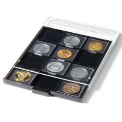 Stackable Coin Drawer Box For 2.5 X 2.5 Xl 67mm Holders Tray Quadrum New Display