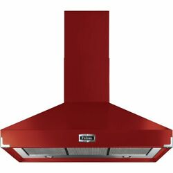 Falcon Fhdse1000rd/n Built In 100cm 4 Speeds A Chimney Cooker Hood Cherry Red