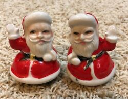 Vintage Santa Clause Salt Pepper Shakers Christmas Holiday Collectible