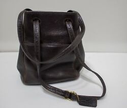 VTG Coach Brown Leather Bucket Bag  Purse Great Condition