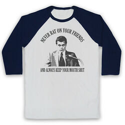 Goodfellas Henry Unofficial Never Rat On Your Friends 3/4 Sleeve Baseball Tee